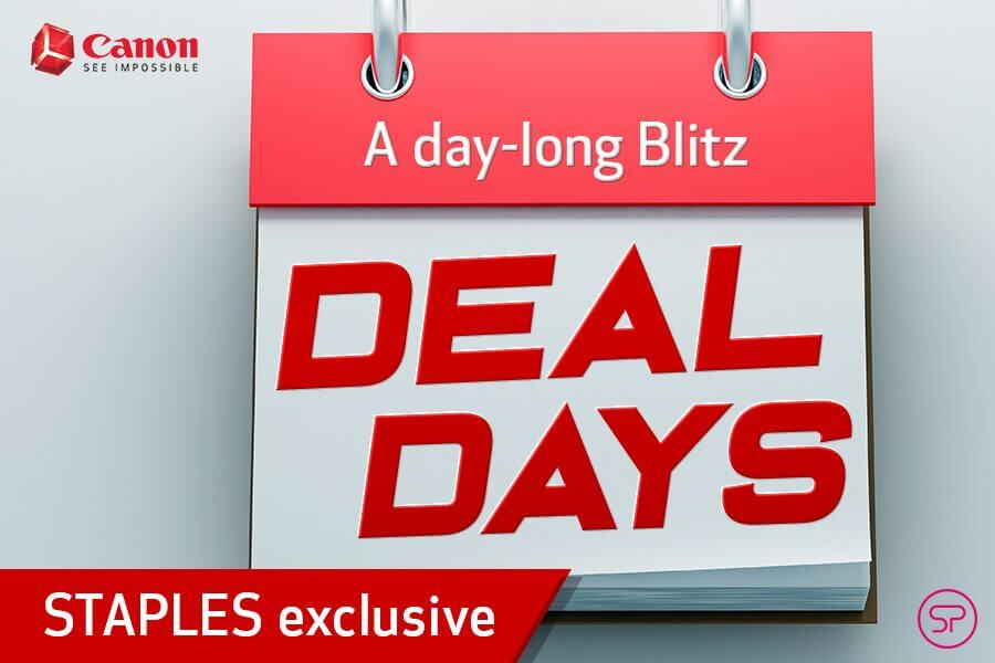 January Canon Deal Days – Staples Exclusive