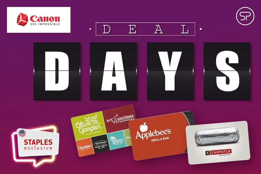 Canon Deal Days: Staples