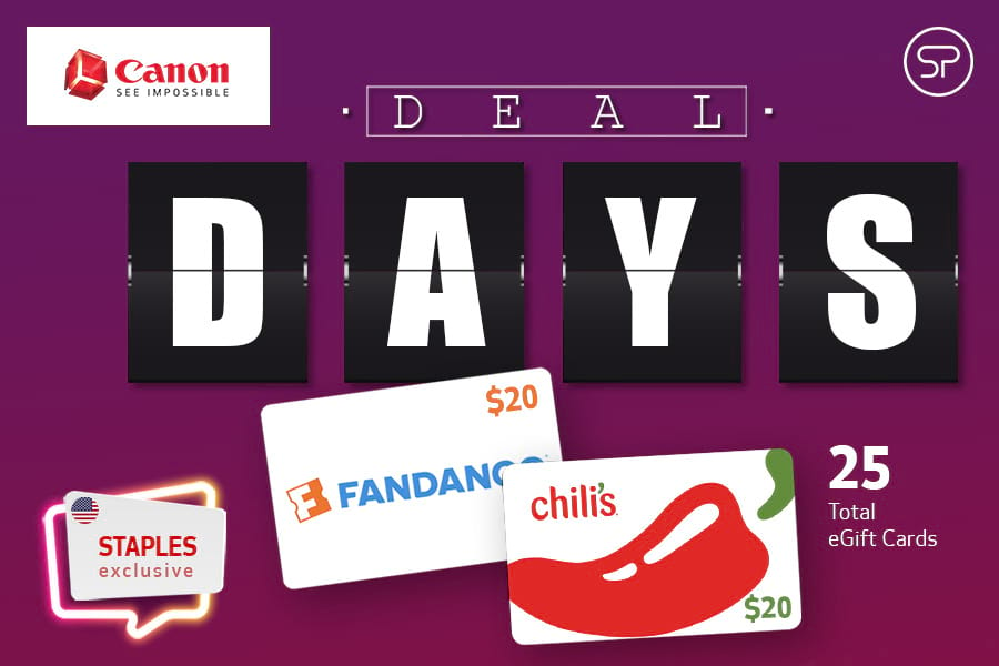 October Canon Deal Days - Staples